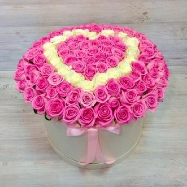 Коробка Сердце 151 роза