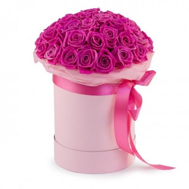 """Коробка """"31 Розовая роза"""""""